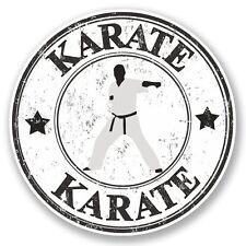 2 x Karate Vinyl Sticker Laptop Travel Luggage #4795