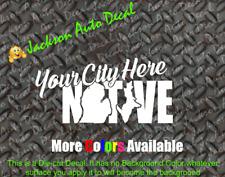 Custom Michigan Native Car Window Decal Sticker Great Lakes Love MI Detroit
