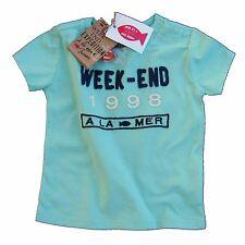 Week-end à la mer T-Shirt maritim grün pastellgrün 62 68 74 80 86 92 NEU