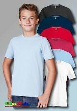 Kariban bambini t-shirt a manica corta girocollo tinta unita 6 COLORI 5 taglie