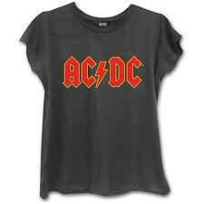 AC/DC Girlie-Shirt RED LOGO (black)  ♫ Australian Hard Rock ♪ Heavy Metal ♫ ACDC
