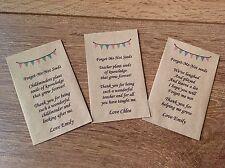 Personalised Teacher Nursery Assistant Childminder Head Gift Present Seeds Pack