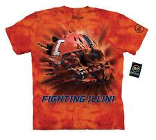 The Mountain Hat Trick University of Illinois Fighting Illini T-Shirt--Brand New