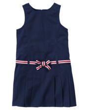 GYMBOREE UNIFORM SHOP NAVY PLEATED BELTED JUMPER DRESS 5 7 8 NWT