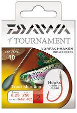 Daiwa Tournament Vorfachhaken - Forellenhaken / Sbirolino 250cm