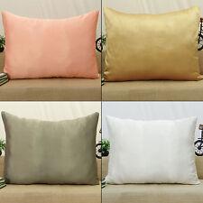 Startseite Bett Dekor Werfen Satin Silk festes Muster Kissen Sham Kissenbezug