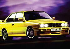 139739 E36 BMW MOTOR CAR YELLOW Wall Print Poster AU