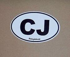 CJ  Euro Sticker for Offroad bumper Sticker Decal CJ