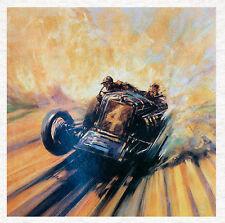Vintage Motor Racing Car-Calidad de la Tela Cojín De Tapicería Panel de edredón de arte