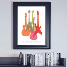 Jimmi Hendrix, Music is My Religion print, Guitar Wall Art