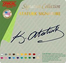 ATATURK Mustafa Kemal Atatürk  SIGNATURE VINYL STICKER DECAL RACE MUSTANG TRACK