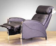 Barcalounger Horizon II Genuine Leather Recliner Lounger Chair - Stargo Black