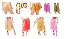 FLORAL HAWAII HULA FANCY DRESS FLOWERS SKIRT BRA LUAU HEN PARTY TROPICAL BEACH