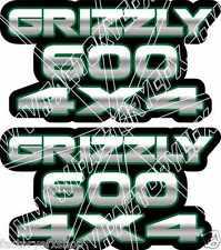 Grizzly 600 4x4 Green Gas Tank Graphic Decal Sticker Atv Quad plastic car window