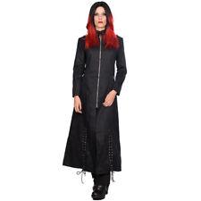 Black Pistol Gothic Punk Denim Mantel Trenchcoat - Ring Coat Schnürung