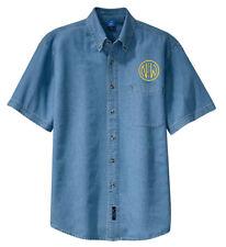Norfolk and Western Railway Short Sleeve Embroidered Denim [den04SS]