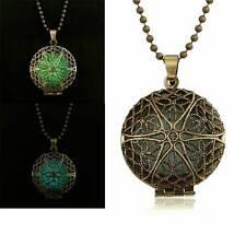 Collana luminosa ciondolo pendente fluorescente luminoso bronzo anticato vintage