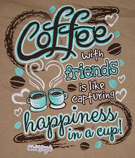 Women's Coffee With Friends Short Sleeve T-Shirt Girlie Girl Top S, 2XL, 3XL