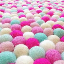 Pink  Pom Pom Felt Balls Jewelry making beads garland making beads supplies