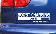 SUPER Turbo Boost di Ricarica Caricabatterie Divertente Auto Paraurti Adesivi Decalcomanie JDM VW DUB