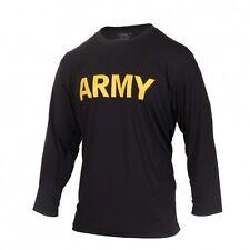 US Army apfu leggero manica lunga Maglietta sportiva PT camicia sport black