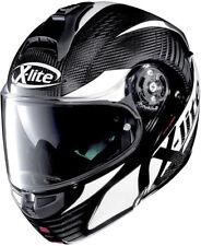 X-Lite X-1004 Ultra Carbon Black / White  Modular / Flip up Motorcycle Helmet