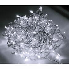 48 96 200 300 400 LED Lichterkette Innen & Außen Kaltweiß Weihnachten Party IP44