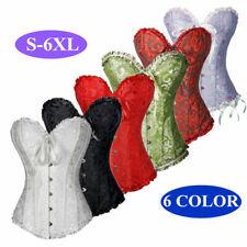 Women Bustier Burlesque Boned Corset Top Dress Basque lingerie Shaper S-6XL