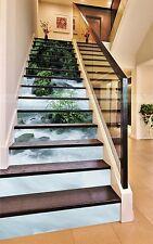 3D Clear River 128 Stair Risers Decoration Photo Mural Vinyl Decal Wallpaper AU