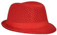 MLN Men's Mesh Fedora Red