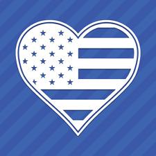 American Flag Heart Vinyl Wall Decal Sticker