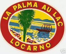 luggage label hotel la palma au lac locarno barca remi