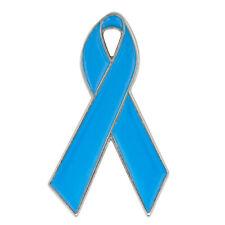 PinMart's Light Blue Awareness Ribbon Enamel Lapel Pin