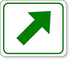 supplemental directional green diagonal right arrow Aluminum Composite Sign