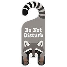 Raccoon Do Not Disturb Plastic Door Knob Hanger Warning Room Sign