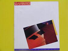 1986 Chevrolet Chevy Camaro IROC Z28 Sport Coupe Berlinetta Sales Book