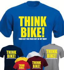 Think Bike! Then Get... Biker Motorbike Funny Daddy Gift Present t-shirt