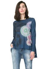 Desigual Long Sleeved Circle Angela Rhinestone T-Shirt XS-XXL UK8-18 RRP?64