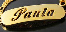 18k Plateó la Pulsera de Oro Con el Nombre - PAULA - Regalos Para Mujeres