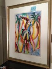 Very Cool ANTELOPE Colorful Modern Contemporary Original Framed Art Karl $1000+