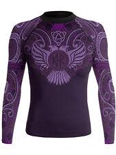 Raven Fightwear Women's Nordic Rash Guard IBJJF Approved MMA BJJ Purple
