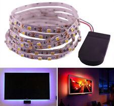 Battery Powered 3528 LED Strip Lights 0.5m 1m 2m Flexible Tape Light Lamp Closet