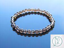 Smoky Quartz Natural 6mm Gemstone Bracelet 6-9'' Elasticated Healing Stone Reiki