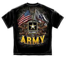 ARMY DOUBLE FLAG GUN FREEDOM USMC USA AMERICA MILITARY MENS T TEE SHIRT S-3XL