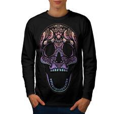 Sugar Skull Men Long Sleeve T-shirt NEW | Wellcoda