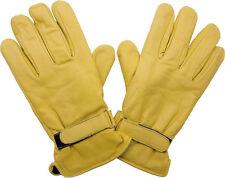 Western Leder Biker Vespa Reit Handschuhe Beige 50s Rockabilly Gloves gefüttert