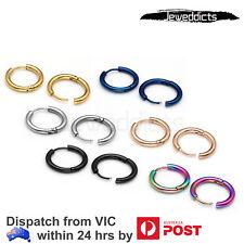 2-10PCS Stainless Steel Hoop Earrings Huggie Ear Stud Bar Black Silver Gold Gift