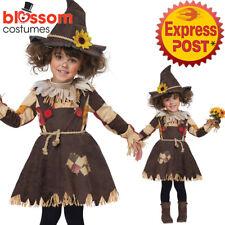 CK1080 Toddler Girls Pumpkin Patch Scarecrow Costume Halloween Fancy Dress Party