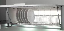 Scolapiatti griglia unica INOX con telaio per mobile vasistas da 60-80-90-120 cm