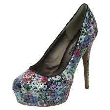 'Ladies Spot On' Round Toe Platform Stilletto Shoe - F9R511